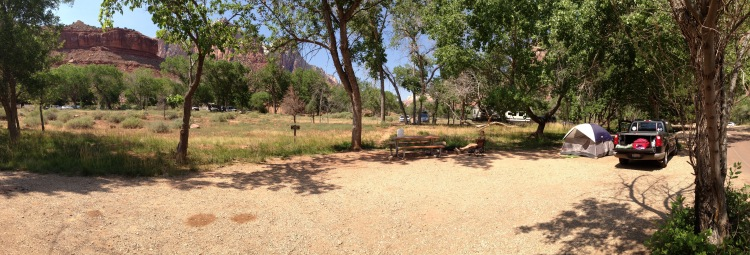 Zion camping